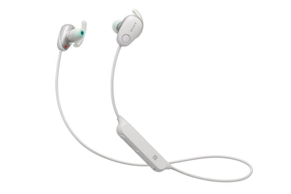 Sony In-Ear Sports Noice Cancelling Headphones with Bluetooth - White (WISP600NW)