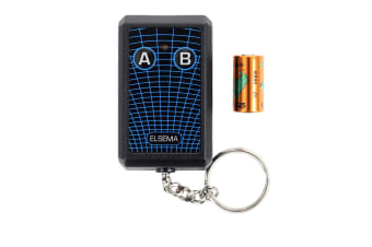Elsema KEY-302 Keyring Garage Door Remote Transmitter - 2 Button