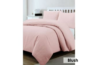 Regal Quilted Quilt Cover Set Blush