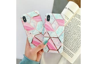 Marble Pattern Soft TPU Case Elegant Stylish Shockproof Silicone Cover for iPhone 7/8-Pink