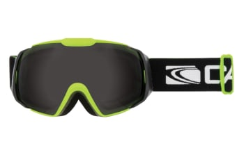 Carve Platinum Lime Matt Black Grey Lens Goggles