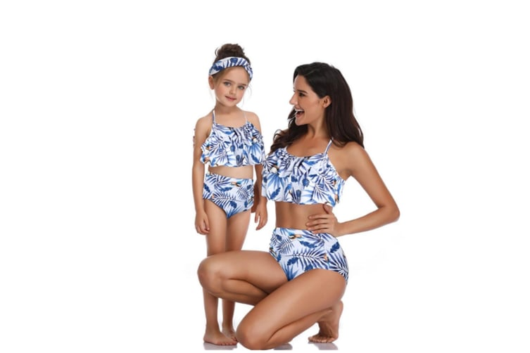 High Waisted Bathing Suit Mommy And Daughter Swimwear Bikini Sets - 8 116