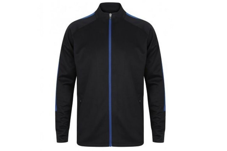 Finden And Hales Mens Knitted Tracksuit Top (Navy/Royal Blue) (XXS)