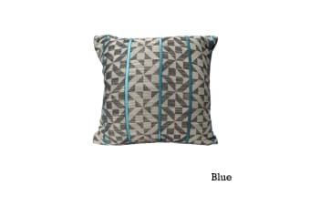 Checks Cushion Cover Blue by Home Innovations