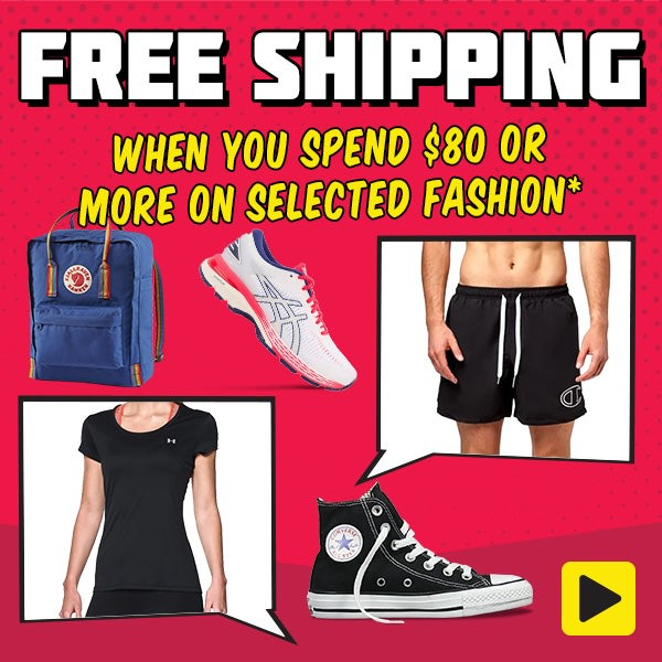 Get Free Shipping When You Spend $80 or More on Selected Fashion