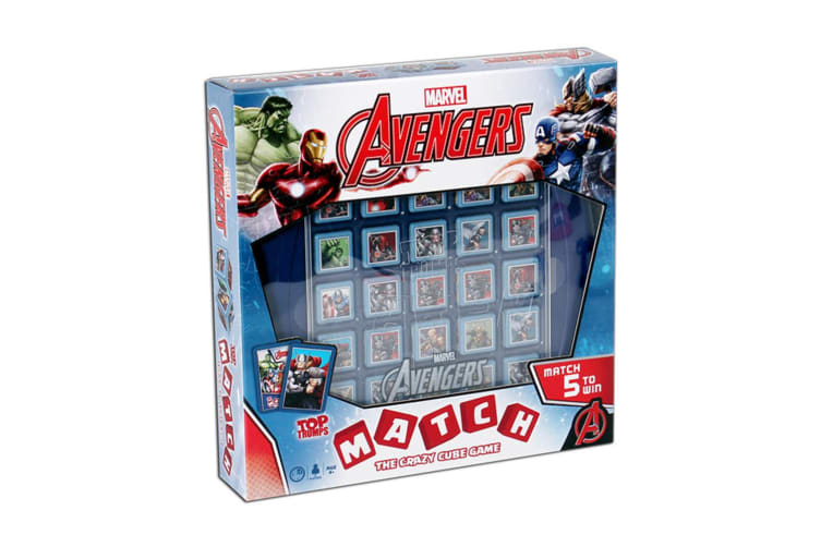 Top Trumps Match Marvel Avengers Board Memory Cubes Game 4y+ Family/Kids Toy