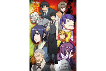 Tokyo Ghoul Group Poster (Multicolour) (One Size)