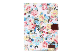 For Samsung Galaxy Tab A 8.0 SM-350 SM-355 Case Flower Cloth Leather Cover White