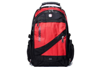 "Wenger Swissgear 15.6"" Laptop Backpack Bag W/ Mp3 Headphone Connection Sa1418 Red"