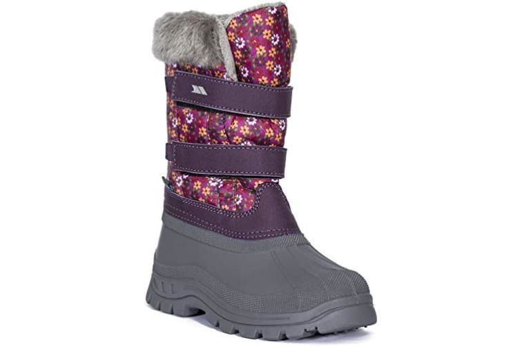 Trespass Childrens/Kids Vause Touch Fastening Snow Boots (Floral Print) (3 Youth UK)