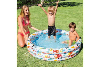 Intex 3 Ring Blow Up Pool - Fishbowl