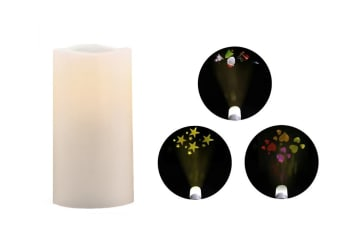 Ovela Flameless Candle with 3 Projection Patterns