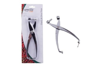 Appetito Stainless Steel Cherry & Olive Pitter Seed Removal Tool