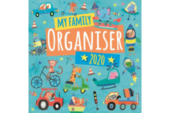 My Family Organiser - Vehicles - 2020 Wall Calendar Planner 16 month 30x30cm (Q)