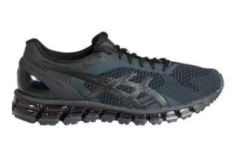 ASICS Men's Gel-Quantum 360 KNIT Running Shoe (Black/Onyx/Dark Grey, Size 8)