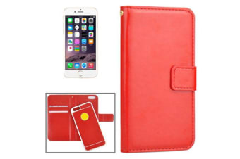 For iPhone 6S 6 Wallet Case Modern Horse Durable Separable Leather Cover Red