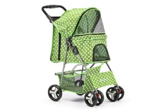 Pet 4 Wheel Pet Stroller (Green)