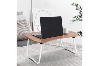 Portable Laptop Desk Stand Foldable Wooden Bed Tray Tables Breakfast Overbed