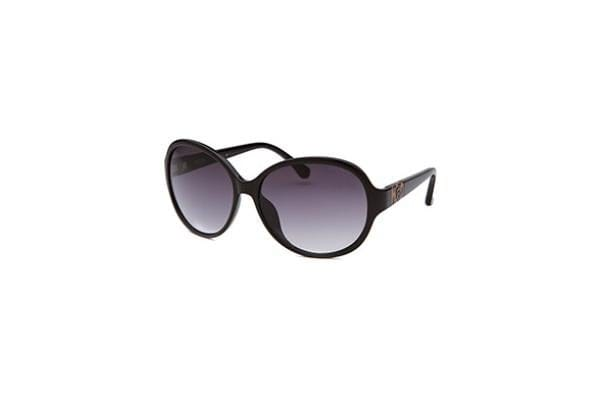 Michael By Michael Kors Women's Morgan Round Black Sunglasses (M2849S-001-58-15-130)