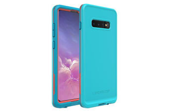 Lifeproof Galaxy S10+ S10 Plus FRE Case Waterproof Dirtproof Snowproof Dropproof Cover for Samsung - Blue & Orange Boosted