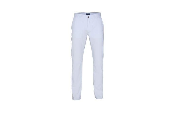 Asquith & Fox Mens Classic Casual Chinos/Trousers (White) (MT)