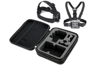 TODO Protective Case Travel Bag For Gopro + Head Mount Chest Belt Hero 960 1 2 3 4 5