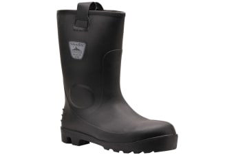 Portwest Mens Steelite Neptune Waterproof Safety Rigger Boots (Black) (13UK/48EUR)