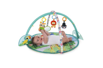 Bright Starts Peek-A-Zoo Activity Gym/Play Mat Baby/Infants w/ Music/Mirror/Toys