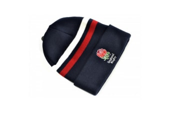 England Striped RFU Core Turn Up Hat (Navy/White/Red) (One Size)