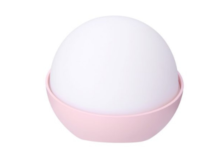 Select Mall Creative Colorful Night Light Small Table Lamp Atmosphere Lamp Soft and Pinchable Silicone Pat Light-Pink