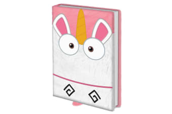 Despicable Me Fluffy Unicorn Premium Notebook (Pink)