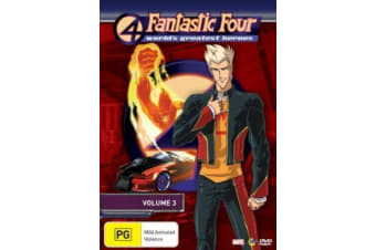 Fantastic Four World's Greatest Heroes : Vol 3 - -Animated Series DVD NEW