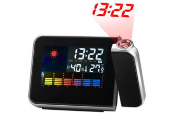 Multi-Function Colour Lcd Weather Clock W/ Time Projection Temperature Humidity