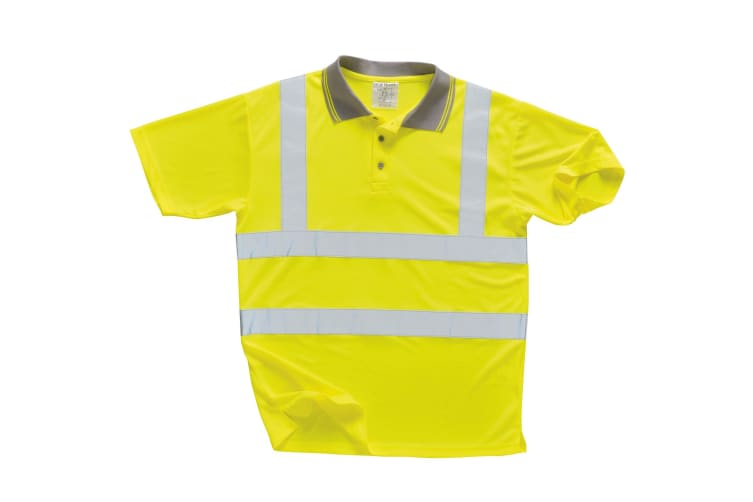 Portwest Unisex Hi Vis Polo Shirt / Workwear / Safetywear (Pack of 2) (Yellow) (S)