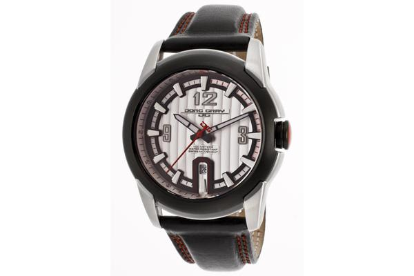 Jorggray Men's Textured Silver Dial Genuine Leather (JORGGRAY-JG9400-21)