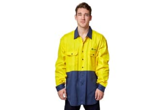 Hard Yakka Transgrid Work Shirt (Yellow, Size 4XL)