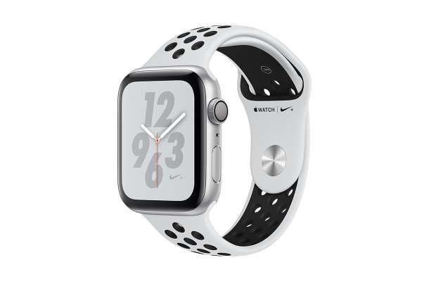 Apple Watch Nike+ Series 4 (Silver, 40mm, Pure Platinum/Black Nike Sport Band, GPS Only)