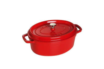 Staub Oval Cocotte 31cm Cherry Red