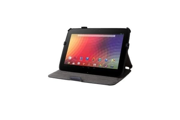 Slim Book Shell Case with Built-in Stand for Google Nexus 10