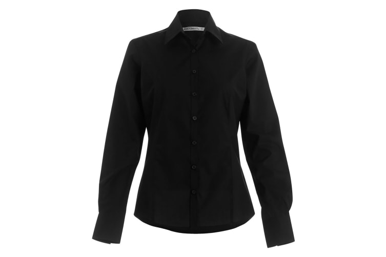 Kustom Kit Womens/Ladies Long Sleeve Business/Work Shirt (Black) (22)