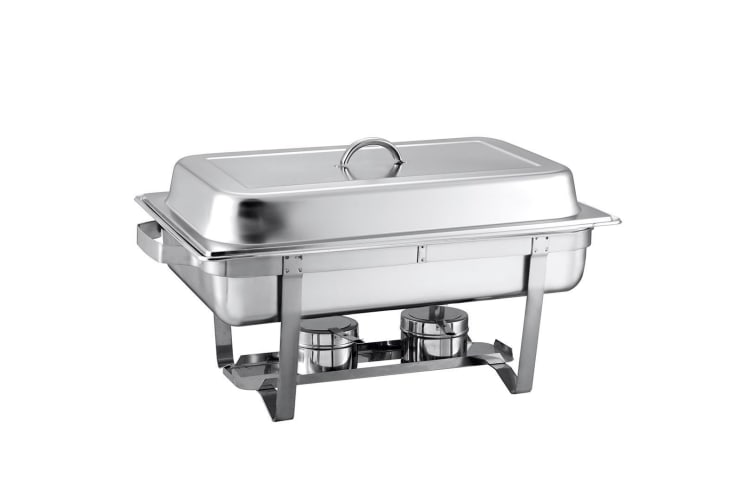 SOGA 3*3L Stainless Steel Chafing Food Warmer Catering Dish Three Trays