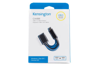 Kensington CA1000 Male USB-C to Female USB-A Adapter/3A for Macbook Chromebook