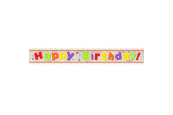Amscan Happy Birthday Holographic Foil Banner (Multicoloured) (2.7m)