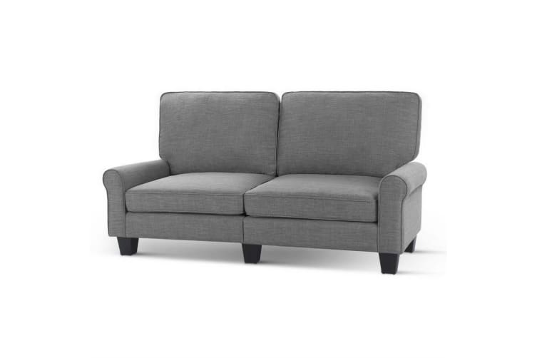 Artiss Sofa Lounge 3 Seater Couch Sofas Set Linen Fabric Suite 1780mm Grey