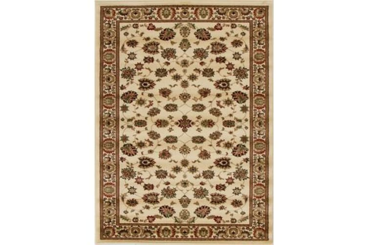 Traditional Floral Pattern Rug Ivory 400x300cm