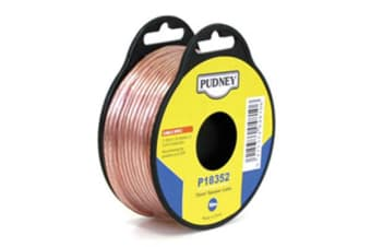 PUDNEY Speaker Audio Wire 0.75mm - Clear/Red - 10m Speaker Cable
