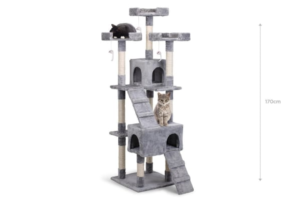 pawever pets cat scratching post tree large