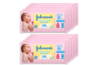 10x Johnson's 56 Infant/Baby Wipes Extra Sensitive Skin/Fragrance Scent Free