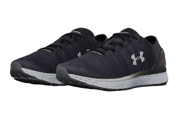 Under Armour Men's Charged Bandit 3 Running Shoe (Stealth Gray/Black, Size 9.5)