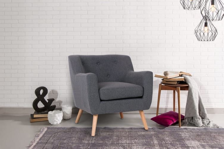 Ovela Janne Armchair (Charcoal Grey)